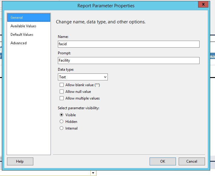 How to display a report parameter label field in a Microsoft Visual Studio Report